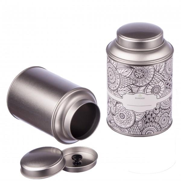 Teedosen mit Aromadeckel inkl. Etiketten