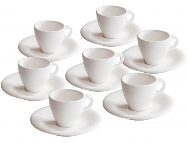 6er Set Villeroy und Boch Espresso Tassen mit Untertassen